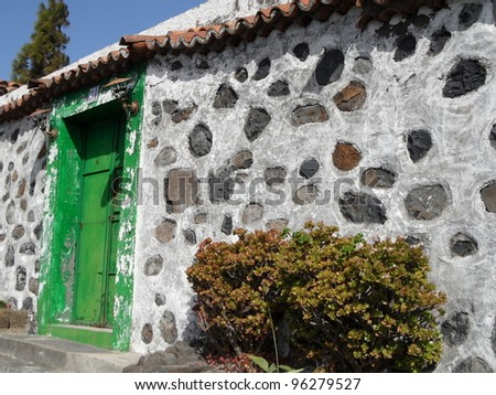typical canarian house - stock photo