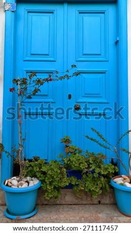 Typical door-Kas-Turkey - stock photo