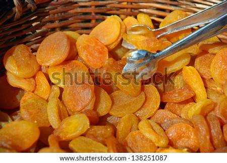 Typical Dry Apricots from Majorca (Spain) - stock photo