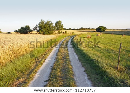 Typical french landscape - stock photo