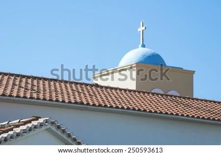 Typical Greek church. Greece - stock photo