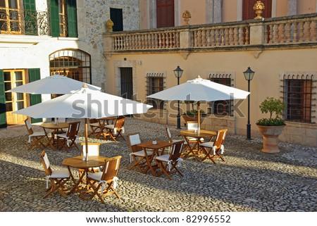 Typical Hotel in Lloseta (Majorca - Spain) - stock photo