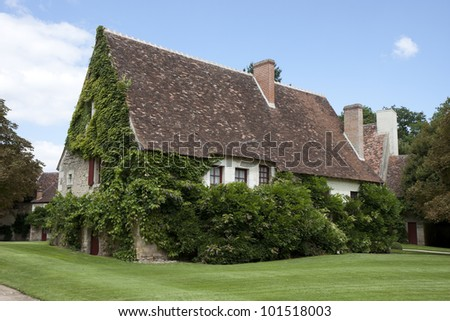 Typical  house in in the Loire Valley, France - stock photo