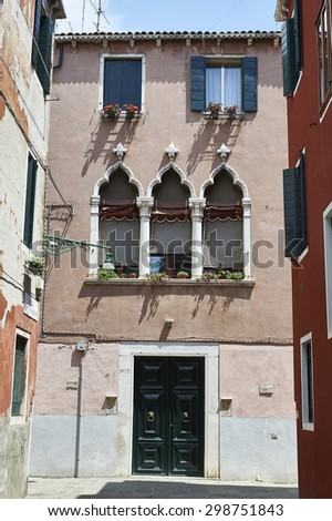 typical house in Venice - stock photo