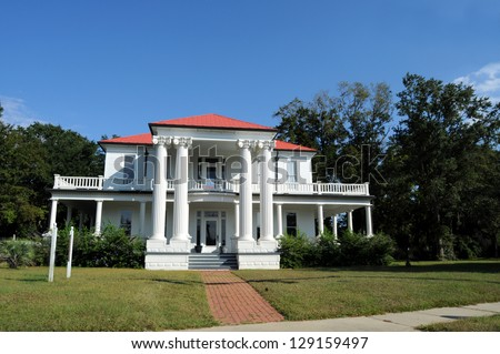 Typical old Mansion in the U.S. South - stock photo