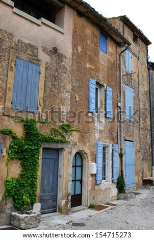 Typical old stone houses in Gordes village, Vaucluse, Provence, France - stock photo