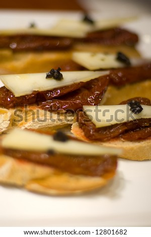 Typical Pintxo or Tapa from Spain - stock photo