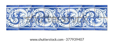 Typical Portuguese decorations with colored ceramic tiles.