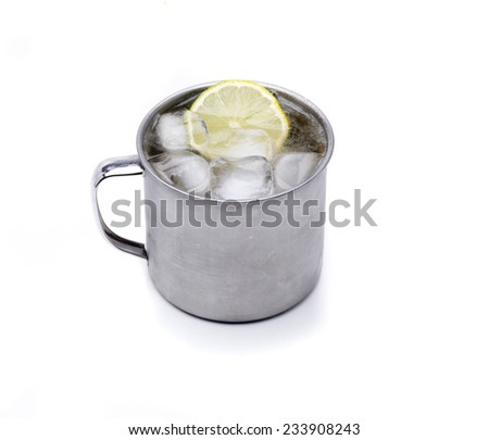 typical Russian cocktail, invented in the war for soldiers - stock photo