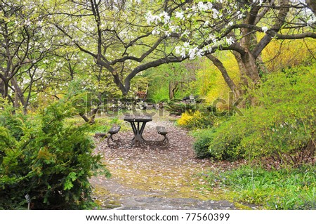 Typical spring landscape - stock photo