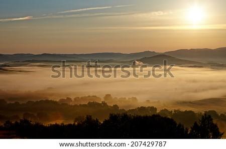 typical Tuscany landscape, Italy  - stock photo