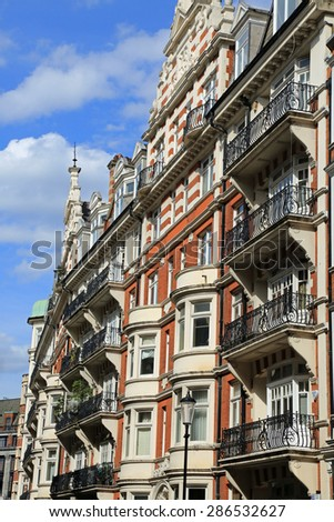 Typical upscale luxury London apartment architecture - stock photo