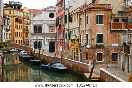 Typical Venice neighbourhood. - stock photo