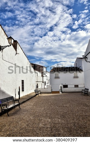 Typical white Spanish village in Andalusia region - stock photo