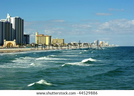Typical winter in Daytona Beach, Florida, USA - stock photo