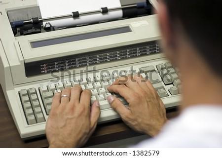typing - stock photo