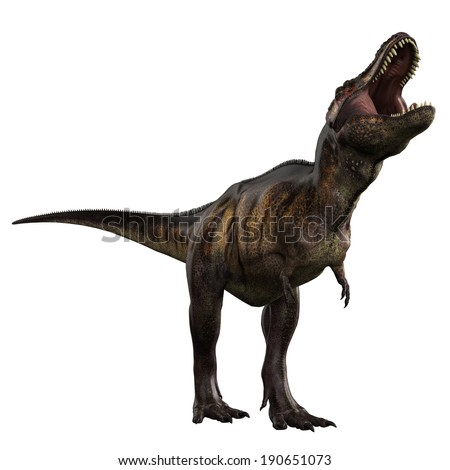 tyrannosaurus crying - stock photo