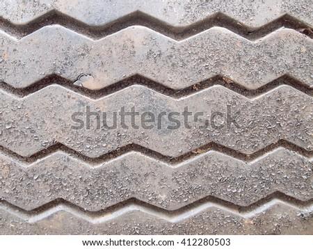 Tyre texture closeup - stock photo