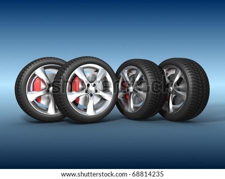 Tyres - stock photo