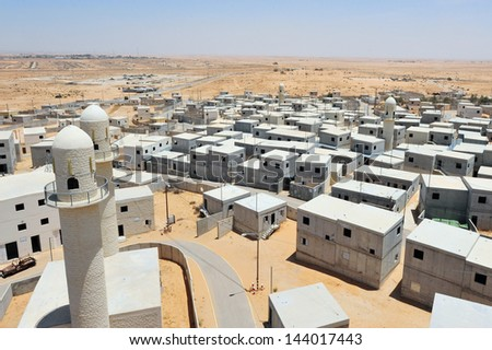 TZEELIM, ISR - MAY 23:General view of Tze'elim urban warfare center on May 23 2011.Several western countries have created simulated urban training zones to train their units for those circumstances. - stock photo