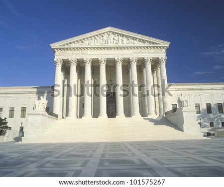 U.S. Supreme Court Building, Washington D.C. - stock photo