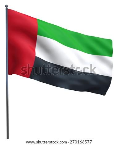 UAE Dubai and Abu Dhabi Emirates isolated flag.  - stock photo