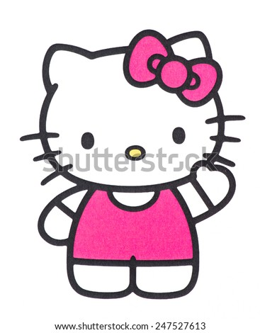 UBON RATCHATHANI, THAILAND - JANUARY 27, 2015: Hello Kitty printed on poster, Hello Kitty is a fictional character produced by the Japanese company Sanrio, Illustrative editorial. - stock photo