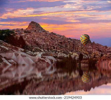 Uchisar in Cappadocia Turkey  - stock photo