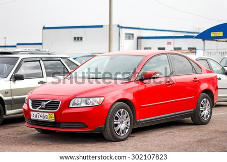 UFA, RUSSIA - APRIL 19, 2012: Motor car Volvo S40 at the used cars trade center. - stock photo