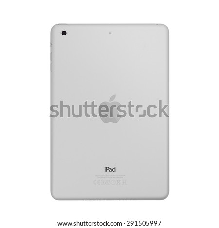 UFA, RUSSIA - JUNE 28, 2015: New iPad mini retina is a tablet developed by Apple Inc. Apple releases the new iPad mini retina. - stock photo