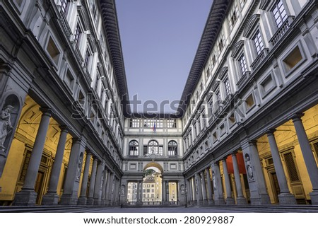 Uffizi Museum in Florence - stock photo