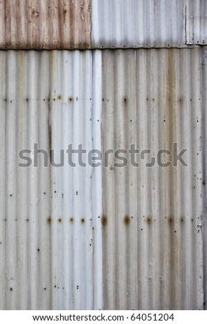 Ugly corrugated iron metal background texture. - stock photo