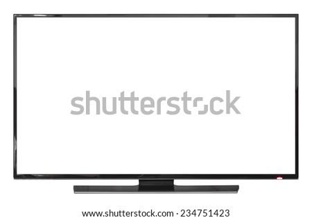 UHD Smart Tv on white background - stock photo