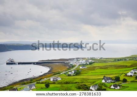 Uig Bay & Ferry, Isle of Skye - stock photo