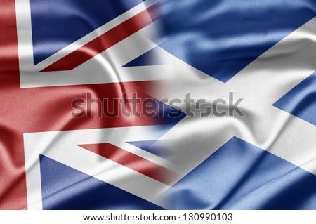 UK and Scotland - stock photo
