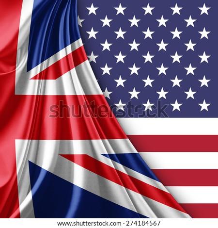 UK and USA flag - stock photo
