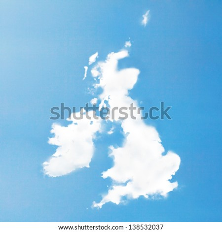 UK Cloud map - stock photo