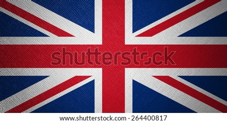 UK flag leather texture - stock photo