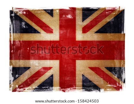 uk flag paint background - super size - stock photo