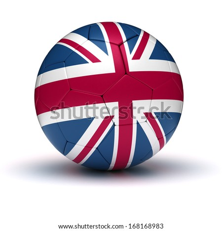 UK Football (isolated with clipping path) - stock photo