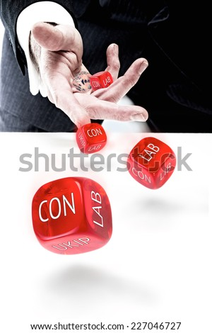 UK Political Party concept. - stock photo