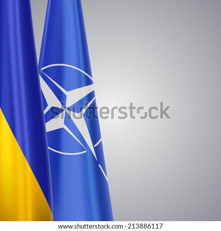 Ukraine and NATO - stock photo