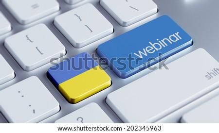 Ukraine High Resolution Webinar Concept - stock photo
