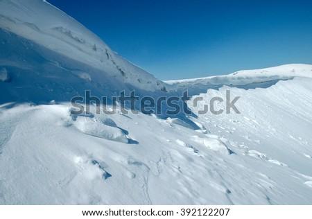 Ukraine, the Carpathian Mountains, the ridge Borzhava - stock photo