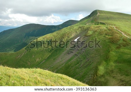 Ukraine, the Carpathians, Svydovets Ridge, mountain Bliznitsa - stock photo