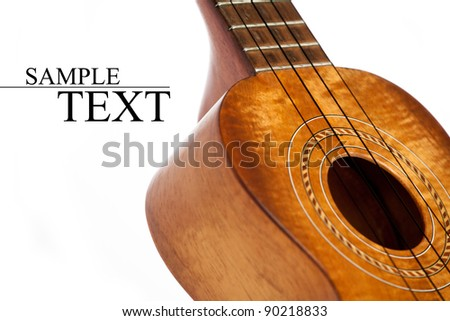 ukulele isolated - stock photo