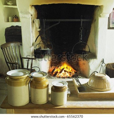 Ulster American Folk Park, County Tyrone, Northern Ireland - stock photo