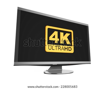Ultra HD 4K icon - stock photo