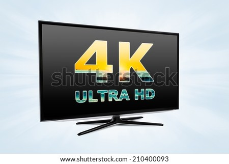 Ultra high definition digital television screen technology - stock photo