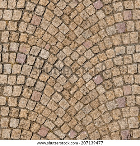 Ultra High quality seamless and tileable texture of decorative cobblestone pavement - stock photo